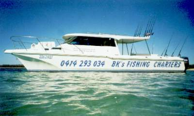 Ex Brisbane fishing charters, aprox 1 hour from Brisbane for ocean reef fishing charters on the Gold Coast with BKs Gold Coast Fishing Charters.